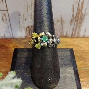 Jewelry - Artisan Emerald & Peridot Ring